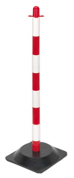 Sealey - RWPB01  Red/White Post with Base