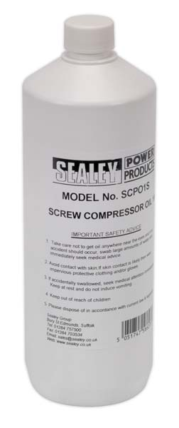Sealey - SCPO1S  Screw Compressor Oil 1ltr