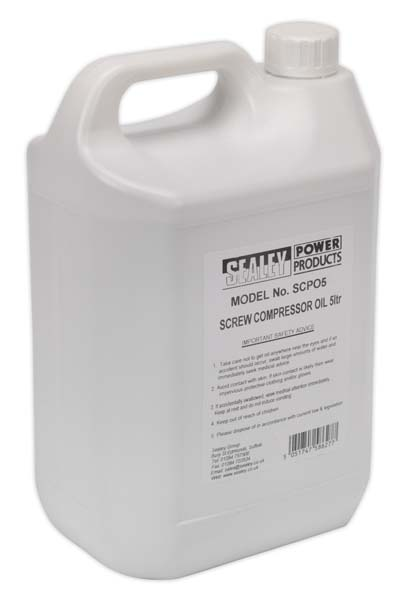 Sealey - SCPO5  Screw Compressor Oil 5ltr