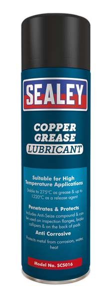 Sealey - SCS016  Copper Grease Lubricant 500ml Pack of 6