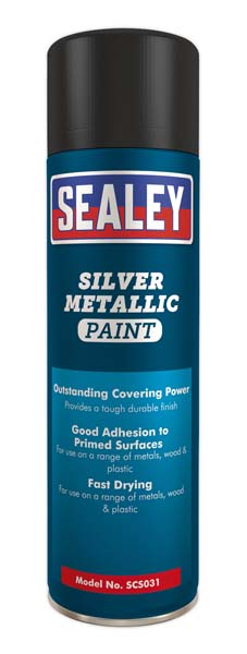 Sealey - SCS031  Silver Paint 500ml Pack of 6