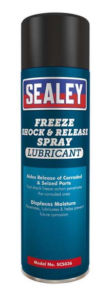 Sealey - SCS036  Freeze Shock & Release Spray Lubricant 500ml Pack of 6