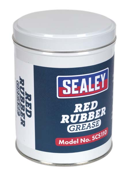 Sealey - SCS110  Red Rubber Grease 500g Tin