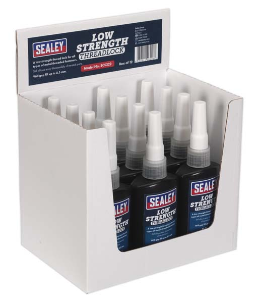 Sealey - SCS222  Thread Lock Low Strength 50ml Pack of 12