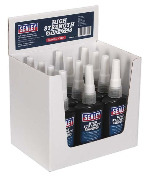 Sealey - SCS271  Stud Lock High Strength 50ml Pack of 12