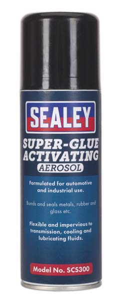 Sealey - SCS300  Super Glue Activating Aerosol 200ml Pack of 6