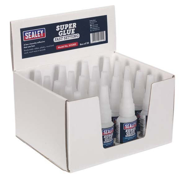 Sealey - SCS302  Super Glue Fast Setting 20g Pack of 20
