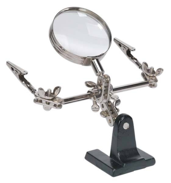 Sealey - SD150  Mini Robot Soldering Stand with Magnifier