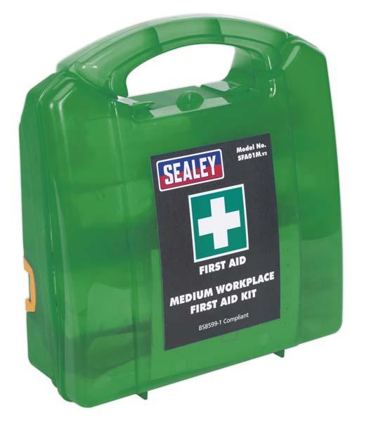 Sealey - SFA01M  First Aid Kit Medium - BS 8599-1 Compliant