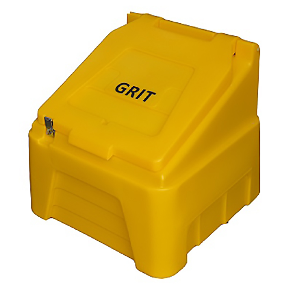 TYGRIS Static Grit Bin - 200 Ltr Yellow Litre SGB200