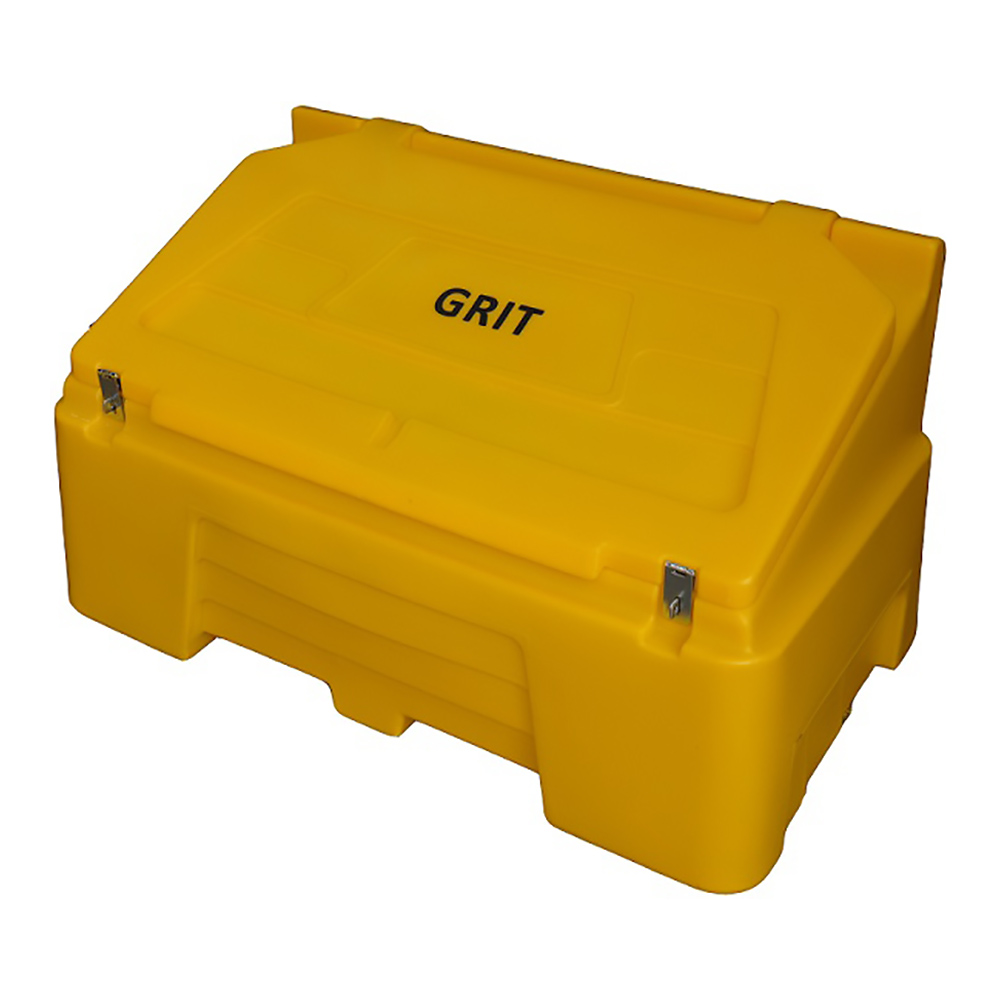 TYGRIS Static Grit Bin - 400 Ltr Yellow. Litre SGB400