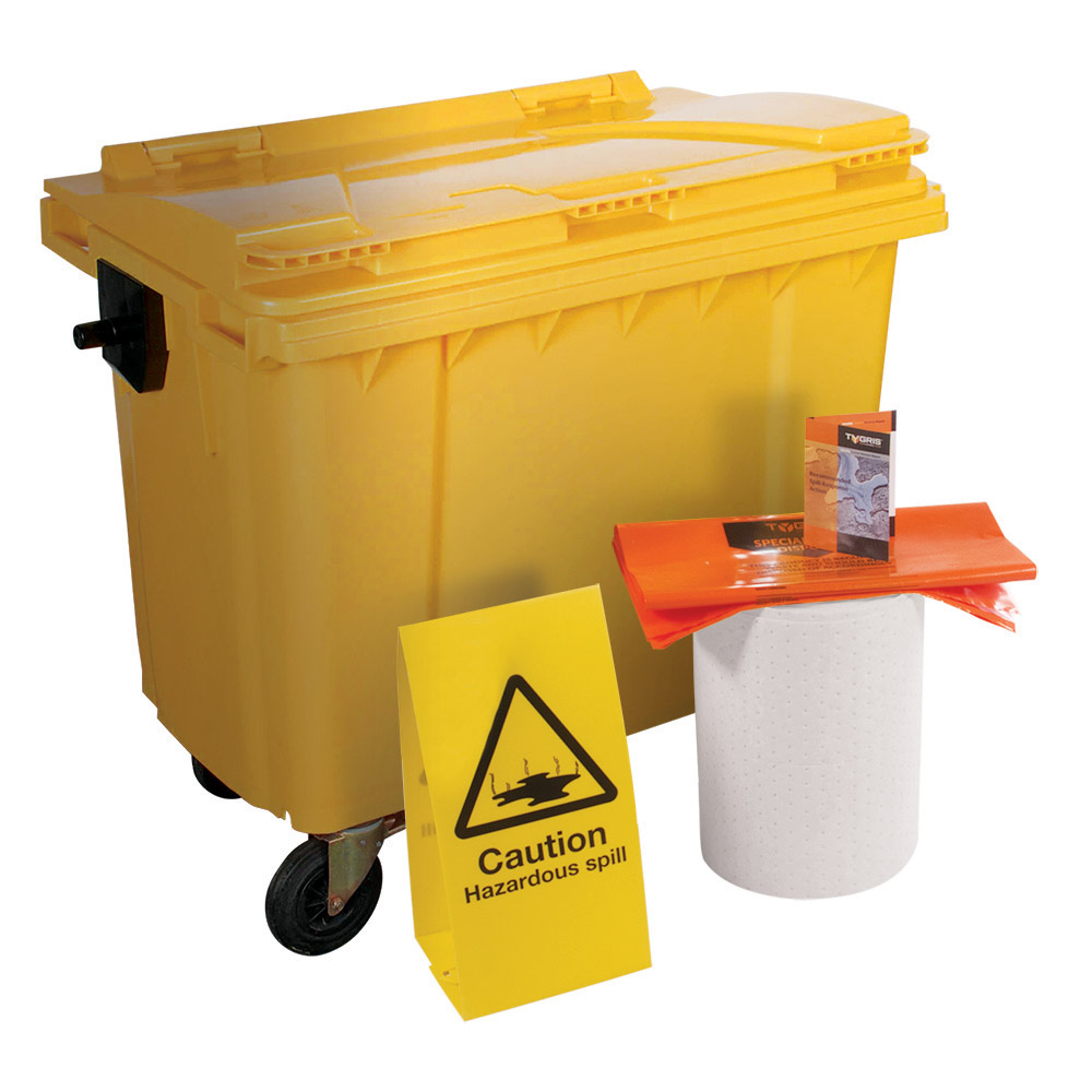 TYGRIS 4-Wheeled Oil Only Spill Kit - 1000 Litre SK1000(O)