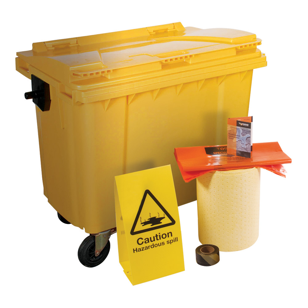 TYGRIS 4-Wheeled Chemical Spill Kit - 1000 Litre SK1000(U)