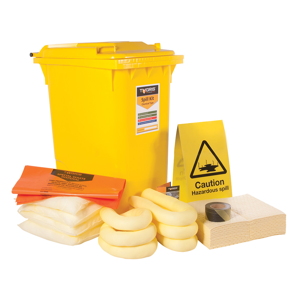 TYGRIS 2-Wheeled Chemical Spill Kit - 210 Litre SK210(U)
