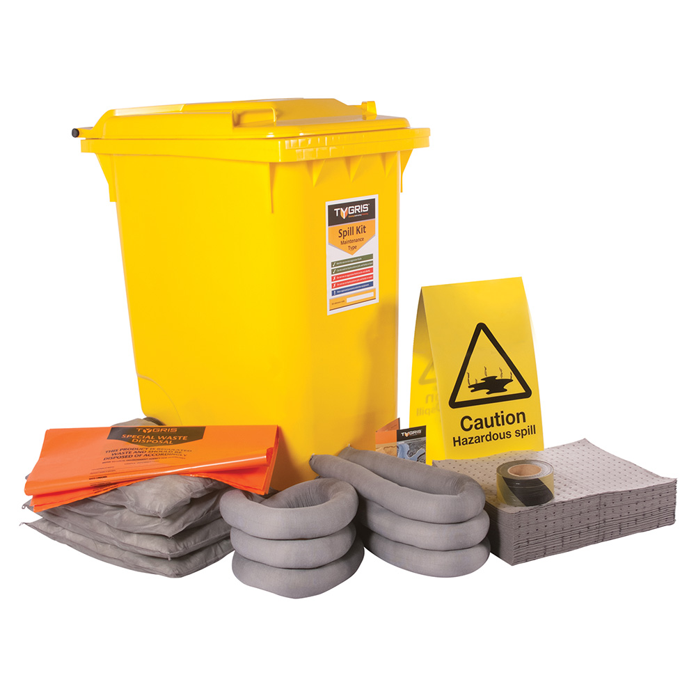 TYGRIS 2-Wheeled Maintenance Spill Kit - 360 Litre SK360(M)