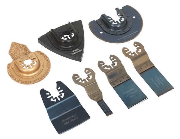 Sealey - SMTS7  Multi-Tool All-Purpose Blade Set 7pc