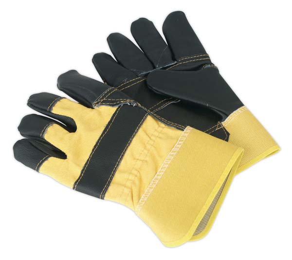 Sealey - SSP13  Rigger's Gloves Hide Palm Pair