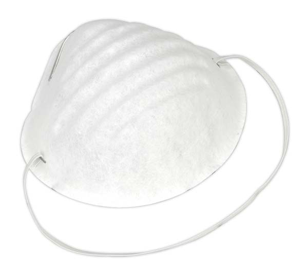 Sealey - SSP15D  Disposable Comfort Dust Cup Mask Pack of 50