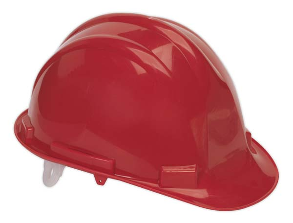 Sealey - SSP17  Safety Helmet Red BS EN 397