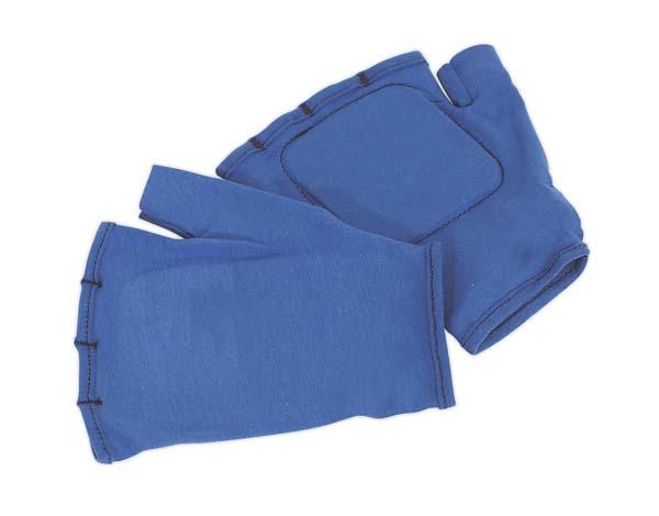 Sealey - SSP42  Safety Gloves Fingerless Vibration Absorbing - Large