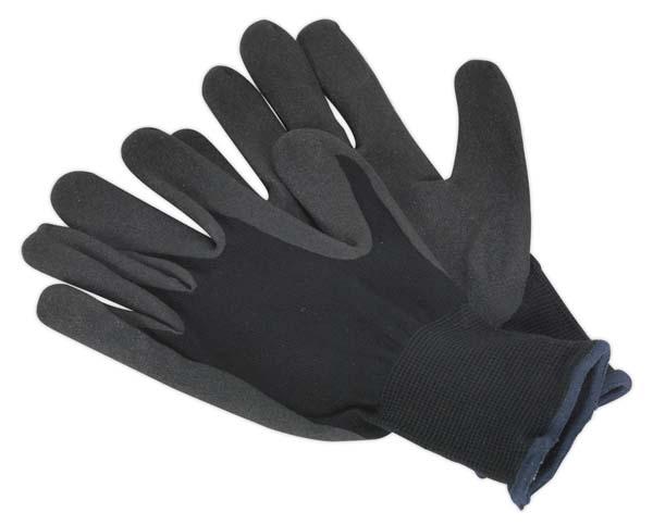 Sealey - SSP62L  Nitrile Foam Palm Gloves - Large