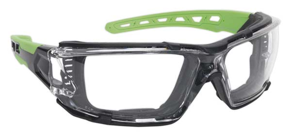 Sealey - SSP68  Safety Spectacles with EVA Foam Lining - Clear Lens