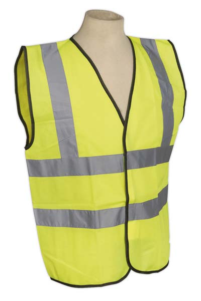 Sealey - SSPHV-XL  High Visibility Waistcoat EN ISO 20471 Extra Large