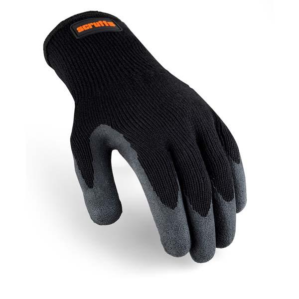 Scruffs Utility Latex Coated Glove Black