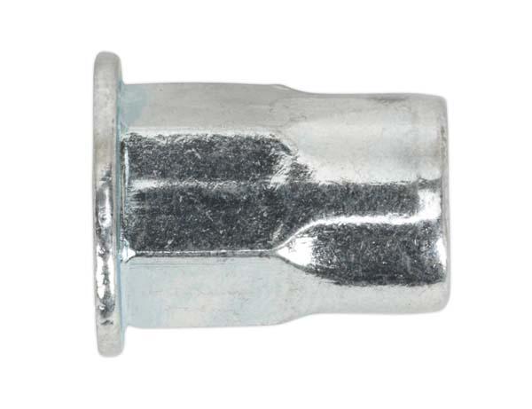 Sealey - TIHHM Threaded Insert (Rivet Nut) M5.0mmHalf Hex Pack of 50