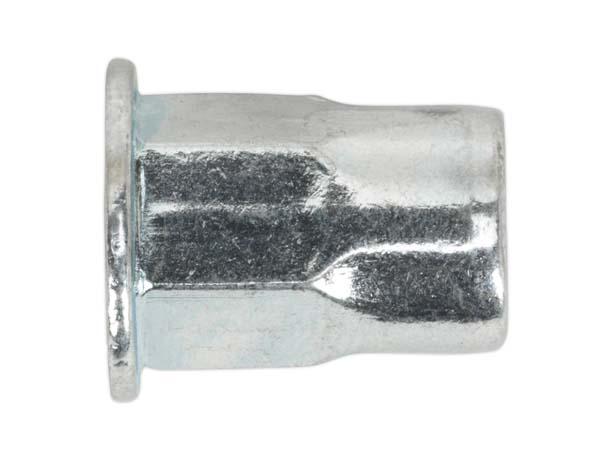 Sealey - TIHHM6 Threaded Insert (Rivet Nut) M6 Half Hex Pack of 50