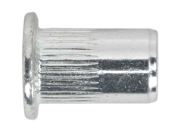 Sealey - TISM4 Threaded Insert (Rivet Nut) M4 Splined Pack of 50