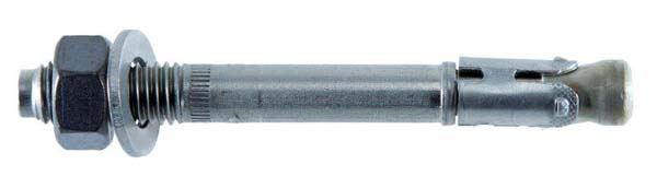 JCP 8.0 X 75mm Option 1 Approved Throughbolt Clear Zinc Plated