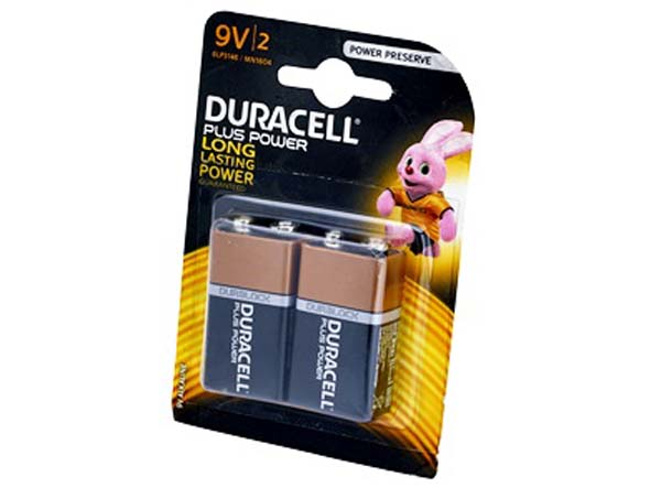 DURACELL  9V Battery Twin Pack  - DUR9VK2P