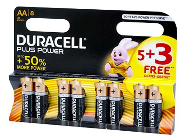 DURACELL  5 + 3 AA Battery Pack  - S6773