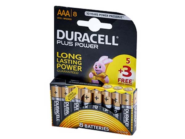 DURACELL  5 + 3 AAA Battery Pack  - S6774