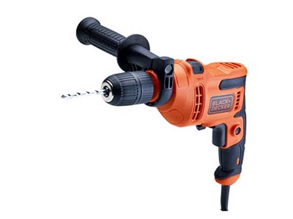 BLACK & DECKER  500W Hammer Drill with 8 Piece Drill Bit Set  -