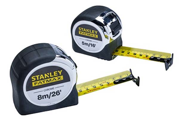 STANLEY FATMAX  Chrome Tape Twin Pack  -