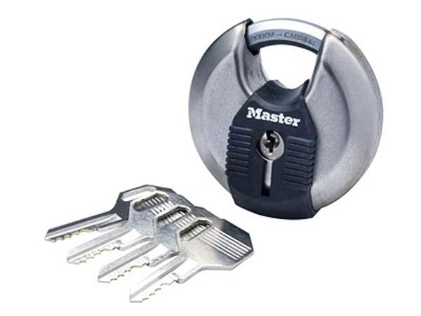 MASTER LOCK  70mm Stainless Steel Disc Padlock  - MLKM40