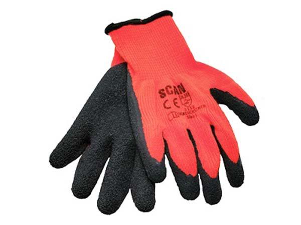 SCAN  Hi-Vis Latex Thermal Gloves (Pack of 5 Pairs)  - SCAGLOKSTH5
