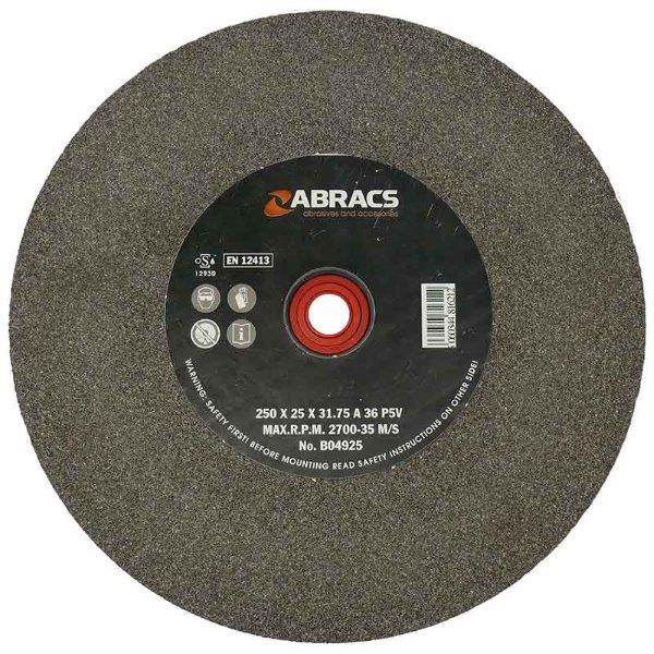 Abracs  150mm x 13mm x 36g AL/OX BENCH GRINDING WHEEL