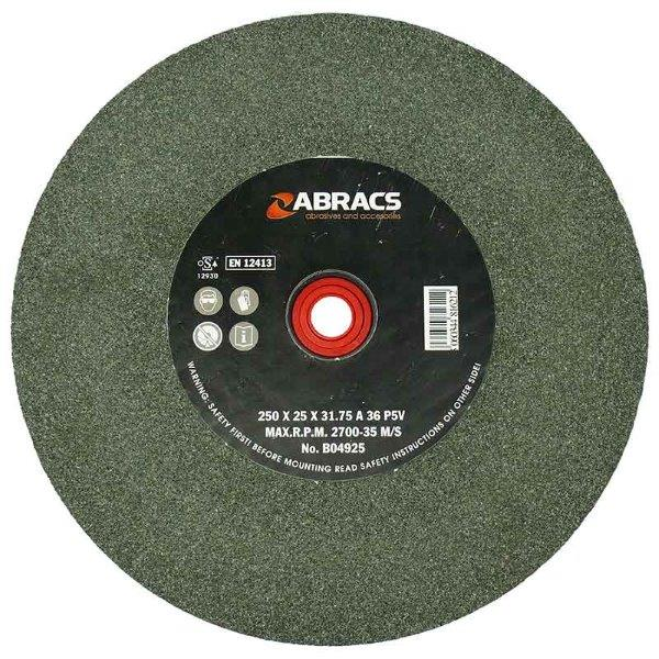 Abracs  150mm x 13mm x 80g SIL/CR BENCH GRINDING WHEEL