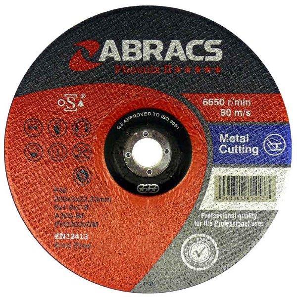 Abracs  PHOENIX II 100mm x 3mm x 16mm FLAT METAL CUTTING DISCS
