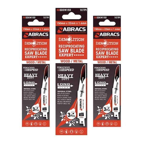 Abracs   Recip Saw Blade 150x22x1.6mm Demolition (3)