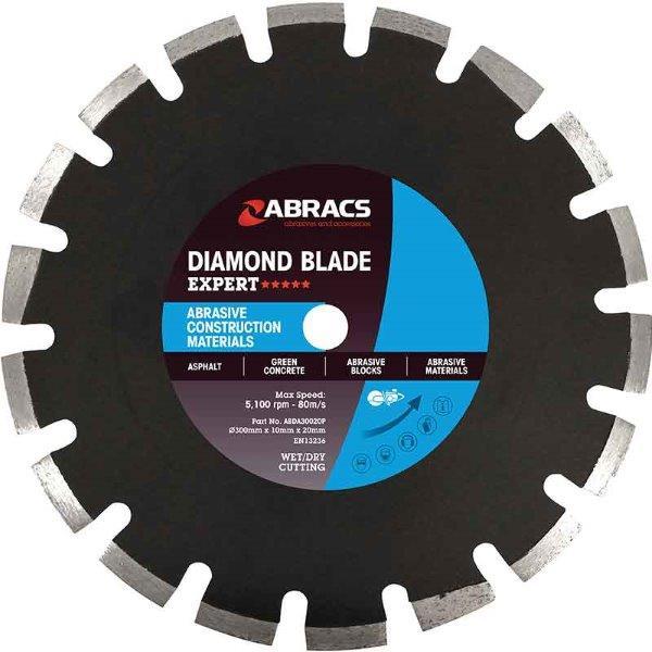 Abracs  ACM Diamond Blade 300mm x 10mm x 20mm