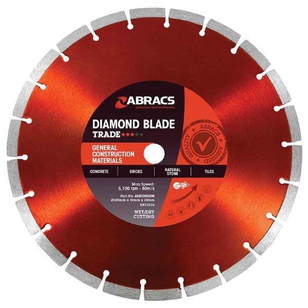 Abracs GCM Diamond Blade 300mm x 10mm x 20mm