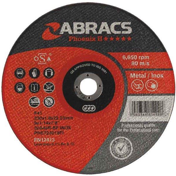 Abracs  75mm x 1.6mm x 10mm PHOENIX II METAL CUTTING DISCS