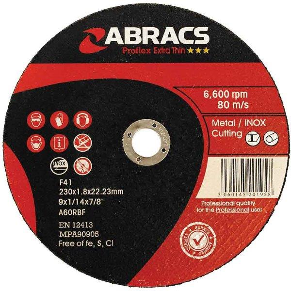 Abracs  PROFLEX EXTRA THIN 115mm x 1.0mm CUTTING DISC INOX ***TIN 10***