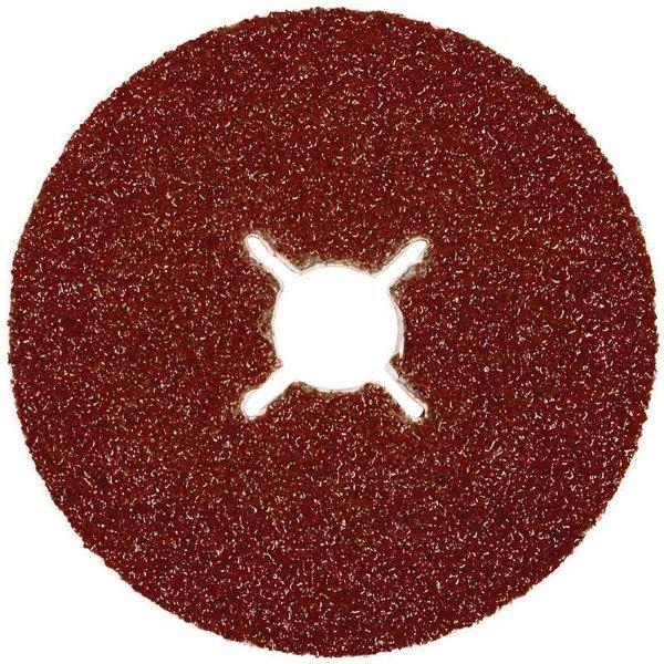 Abracs 'Edge Sander' Fibre Discs 178mm x 24 grit ALUM/OXIDE