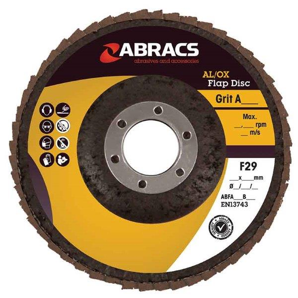 Abracs Flap Disc 115mm x 40g ALUM/OXIDE