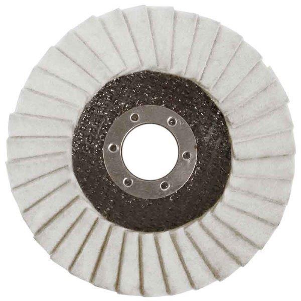 Abracs  115mm x 22mm FELT POLISHING FLAP DISC